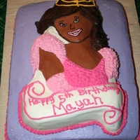 Princess   Marble cake covered with buttercream and dusted with disco dust.
