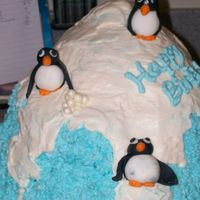 Snow Fun My niece's idea for her party in January. This was the 1st time using fondant to mold characters.. I think the penguins came out...