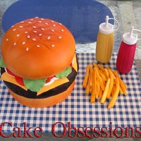 Ye Ole' Burger I think this kind of cake is a rite of passage for many designers. I finally had the perfect opportunity to do it for my annual family...