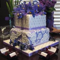 "Viva La Red Bull!! My first Wedding Cake, & the subject of the ""Curse of the 1st Wedding Cake"" thread in the disaster forum. So stressful, but I..."