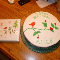 Christmas Birthday Birthday near Christmas. Buttercream with fondant accents.