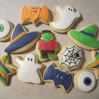 Halloween Cookies Cookies for son's martial arts studio's Halloween party. Fondant on sugar cookies.