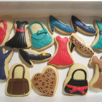 Fashion Cookies Fashion cookies for a friend. Fondant on sugar cookies.