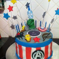 Avengers This is the cake I made for my sons 9th birthday, we searched many amazing cakes to come up with ours.