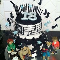 Cnblue Cake My niece wanted a cake with her favorite band on it, Cnblue.