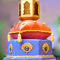 A Moroccan-Style Wedding Cake Of My Very Own! I made this Moroccan-themed cake for my own wedding this past July. The bottom layer is a hexagonal cherry pound cake finished with SMBC,...