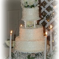 Candle Light Wedding Cake