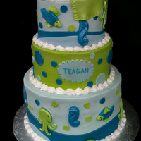 Sea this cake matched the babies bedding