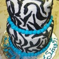 Blue And Zebra All Buttercream