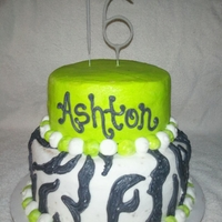 Neon Green And Zebra