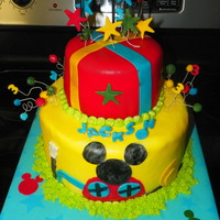 Mickey Mouse Club Cake Not sure where my client found the picture, but the general idea of this cake is someone elses idea. I replicated the basics and then added...