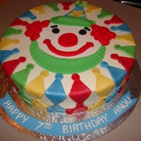Clown Vanilla sponge cake iced in buttercream