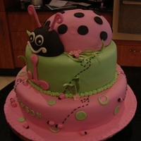 Ladybug Client supplied a pic of what she wanted. Vanilla sponge cake covered in fondant.