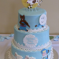 Nursery Rhymes BC with fondant accents. TFL!