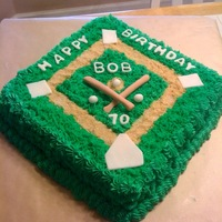 Baseball Birthday Cake   lemon cake with buttercream frosting