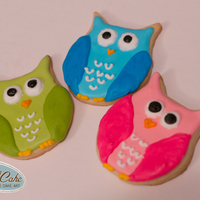 Owl Cookies Owl sugar cookies w/Royal icing. Custom made cookie cutter