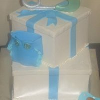 Baby Shower baby shower cake, simple but its exactly what the customer asked for Buttercream cake 6 and 8""