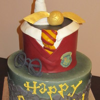 Harry Potter Cake No sure who made a cake like this before me but I fell in LOVE and made it my own :)
