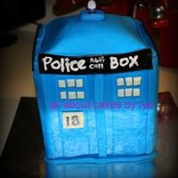 Tardis My version of Doctor Who's Tardis for my daugnters bday!