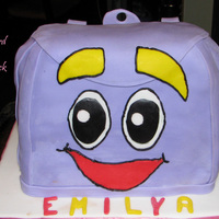 Dora`s Backpack all fondant covered
