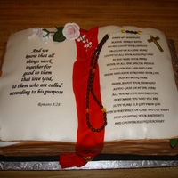 Bible made for a womans birthday