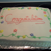 Flower Graduation Cake all buttercream