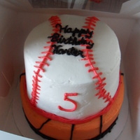 Baseball/basketball Cake all buttercream