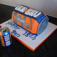 Irn Bru Cake I know practically no one will know what Irn Bru is but it's a very popular soda over here. I think it's nasty! I liked my cake a...