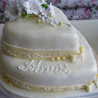 Wedding Cake   royal icing and fondant