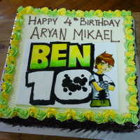 Ben 10   fondant and buttercream