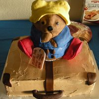 Paddington Bear And Suitcase Kindergarten Graduation Cake  My daughter's teacher gave me free reign on a graduation cake as long as I incorporated Paddington Bear, their class mascot, in some...