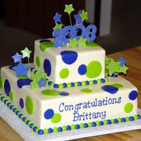 Cakes95_108.jpg 6 and 12'. All buttercream with fondant stars and numbers.
