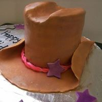 Girls Cowboy Hat MMF airbrushed....First attempt at a hat. I know exactly what not to do next time! :)