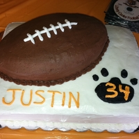 Football Graduation Cake Made for my nephew's graduation