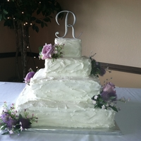 Square Country Wedding Cake