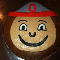 Brutus The Buckeye Birthday cake for my son's 8th