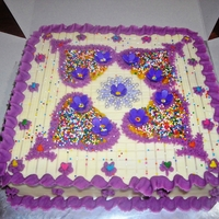 Diwali - Colors Of Rangoli Semolina Almond Cake with Butter Icing Frosting