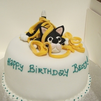 Cat Birthday Cake Quick cake for a cat lover