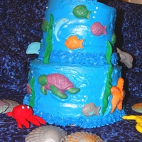 Sea Cake Made of buttercream and chocolate molds