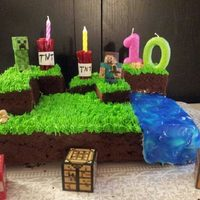 Mindcraft Cake I Made For My Daughters 10Th Birthday I Knew Nothing About Mindcraft Before I Made This So I Had To Alot Of Mommy Research Mindcraft cake I made for my daughters 10th birthday. I knew nothing about Mindcraft before I made this, so I had to alot of mommy research...