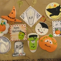 Happy Halloween Sugar cookies w/fondant and chocolate decorations. RI