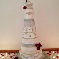 Huge Bling Cake Bride requested biggest blingiest cake I have ever made!!
