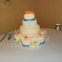 Simple My daughters wedding cake that I made.