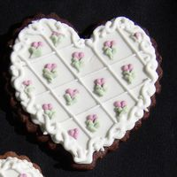 Valentine's Heart NFSC w/Royal Icing and Fondant