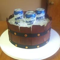 Beer Barrel Groom's Cake *