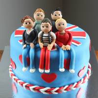 My Daughters 10Th Birthday Cake One Direction My daughter's 10th birthday cake.... One Direction!!!!!!!!!!!!!!!!
