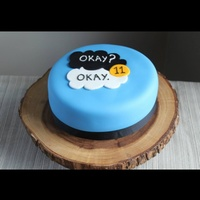 My Daughters 11Th Birthday Cake Inspired By The Fault In Our Stars My daughter's 11th Birthday Cake. Inspired by The Fault In our Stars.