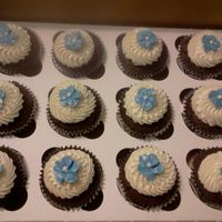 Blue Flower Cuocakes