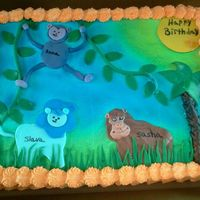 Jungle Birthday Cake 2