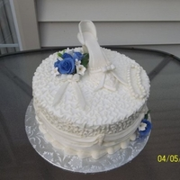 Bridal Shoe Buttercream/fondant shoe